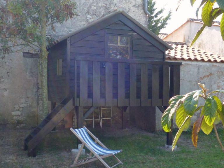 Cabane enfant bois La Rochelle